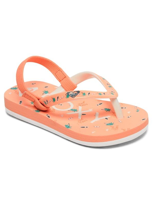 0 Pebbles - Flip-Flops for Toddlers Orange AROL100004 Roxy