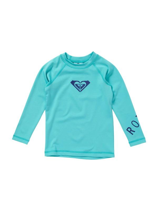 0 Girls 2-6 Whole Hearted Toddler LS Rashguard  AROWR00001 Roxy