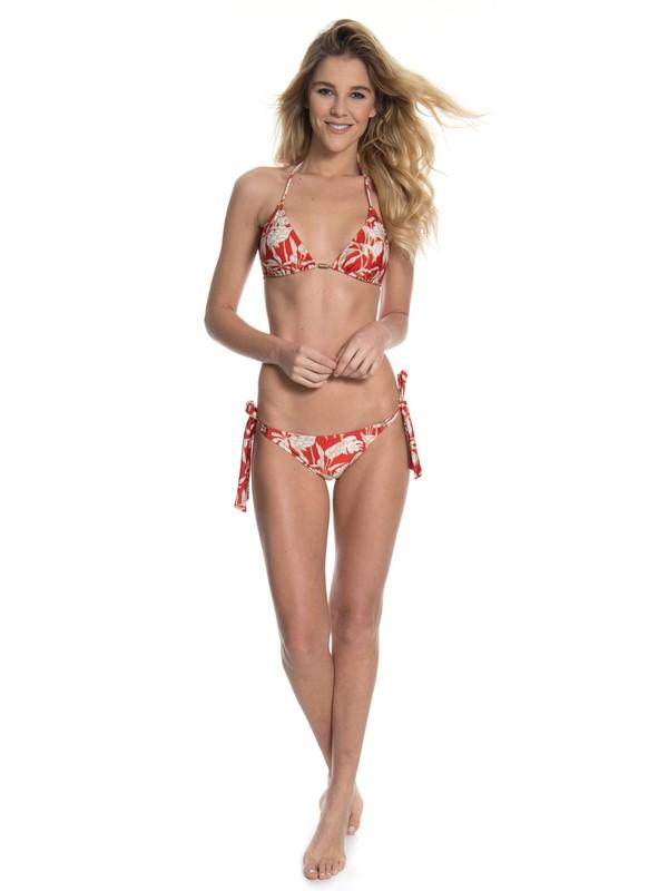 0 Biquini Cortininha Feminino Vermelho Estampado Roxy Vermelho BR66551347 Roxy