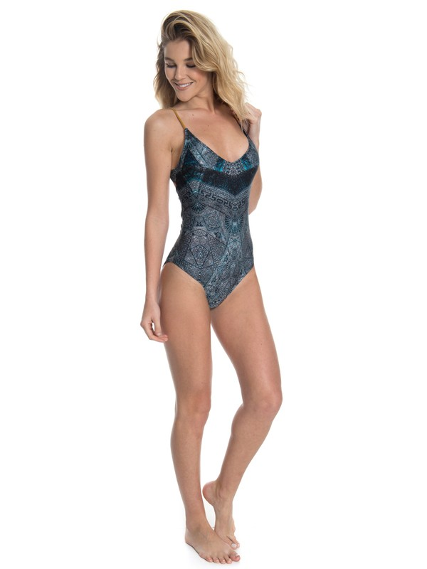 0 Maiô Feminino Estampado Roxy Azul BR66571076 Roxy