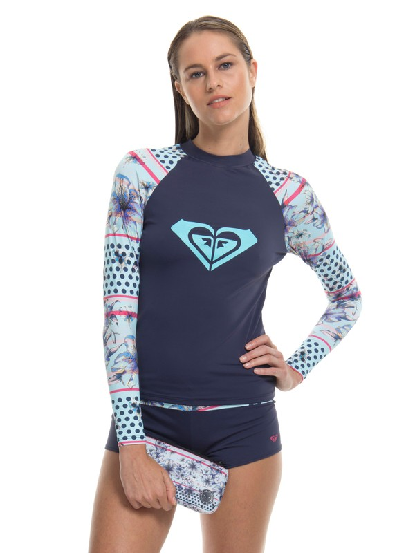 0 Lycra Blue Light Layer Pop Surf Roxy Azul BR66591191 Roxy
