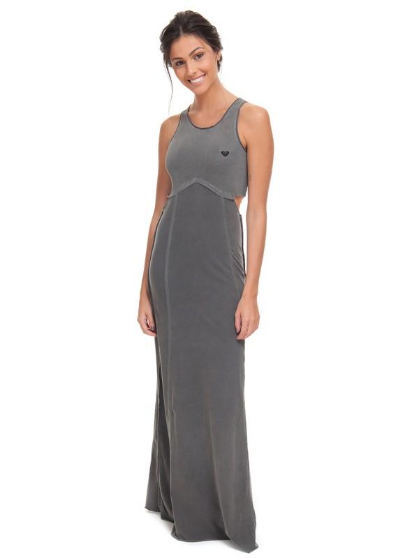0 Vestido Feminino Longo Roxy Preto BR73811535 Roxy