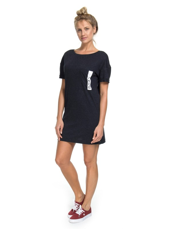 0 Vestido T-Shirt Miss Military Roxy Preto BR73811556 Roxy