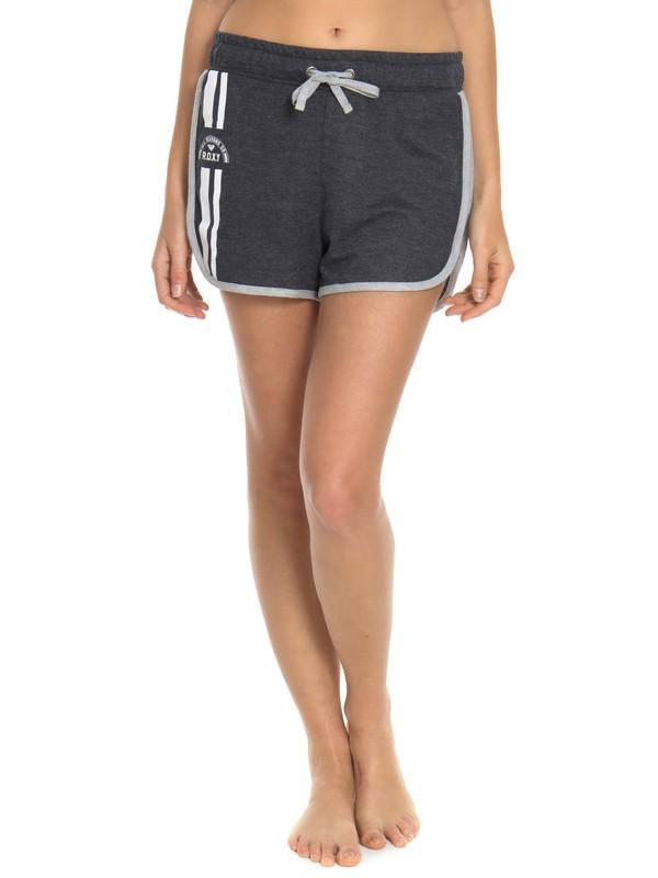 0 Shorts Feminino Curto Moletom Roxy Cinza BR74051206 Roxy