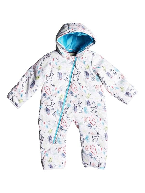 0 Baby Rose Snow Suit White ERETS03004 Roxy
