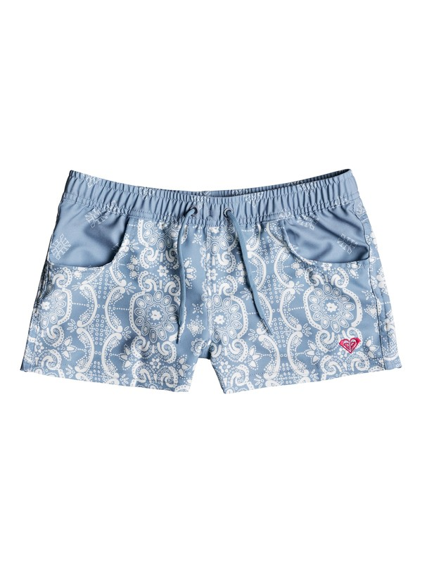 0 Nautical Summer - Board Shorts for Girls 8-16 Blue ERGBS03048 Roxy