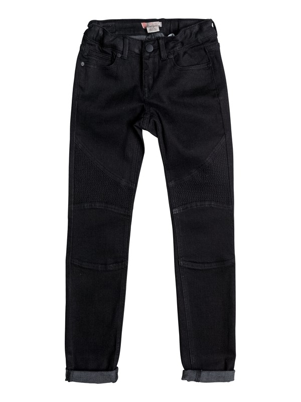0 Enchanted Forest - Slim Fit Jeans for Girls 8-16 Black ERGDP03036 Roxy
