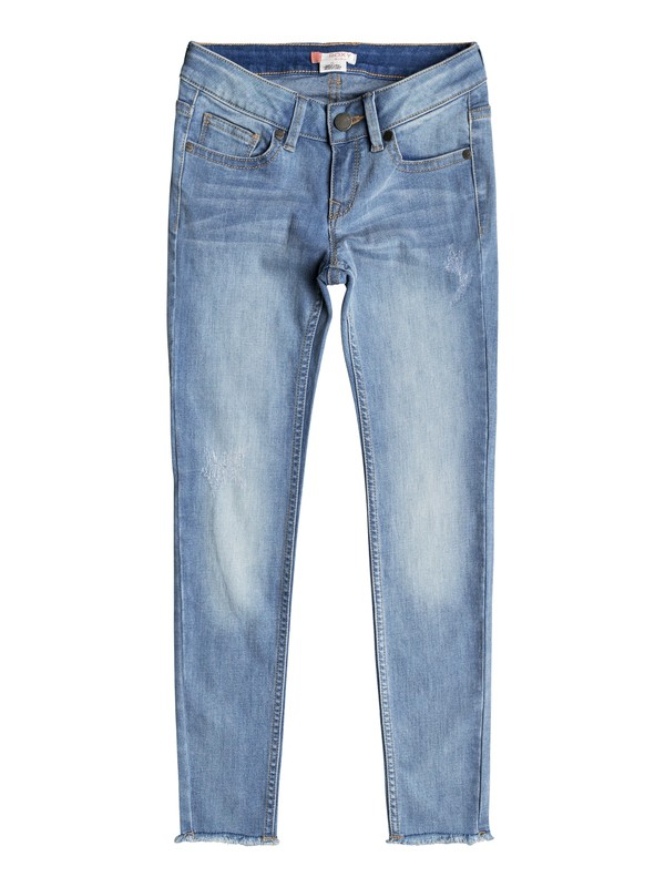 0 Girl's 7-14 Roses And Violets Slim Fit Jeans  ERGDP03040 Roxy