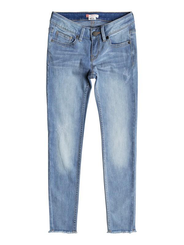 0 Niñas 7-14  Pantalones de Mezclilla Ajuste Delgado Roses And Violets  ERGDP03040 Roxy