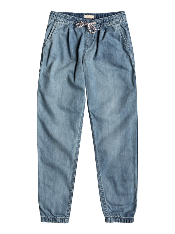 0 Make Us Feel Alive - Denim Beach Pants for Girls 8-16  ERGDP03042 Roxy