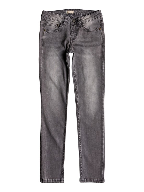0 American Ride - Slim Fit Jeans for Girls 8-16 Grey ERGDP03043 Roxy