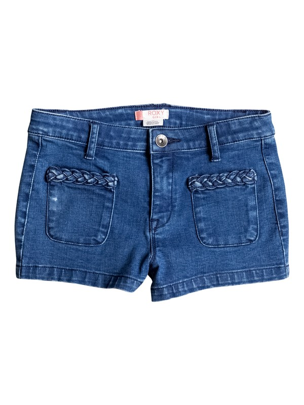 0 Girls 7-14 London Pics High Waisted Denim Shorts  ERGDS03029 Roxy