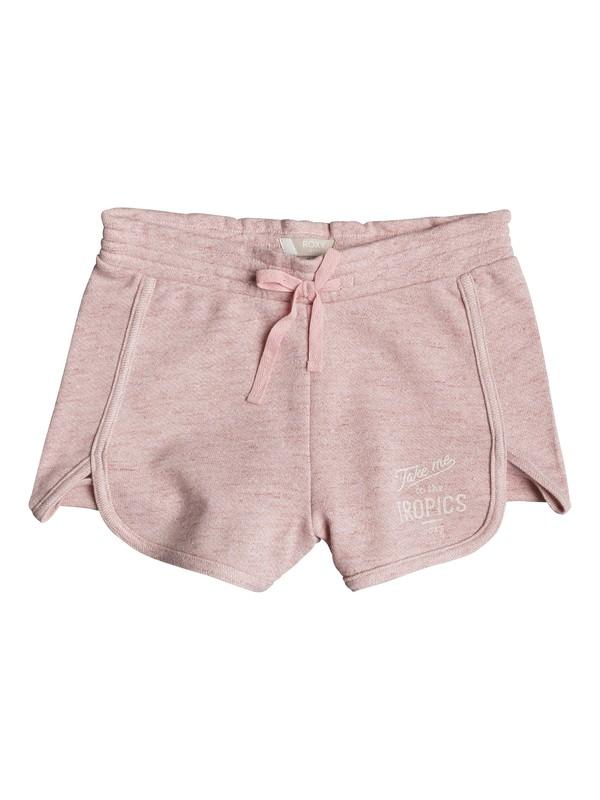 0 Girls 7-14 Neon Tonight Take Me To The Trop Fleece Shorts  ERGFB03076 Roxy