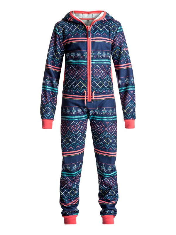 0 Girl's 7-14 Cosy Up Hooded One Piece  ERGFT03212 Roxy