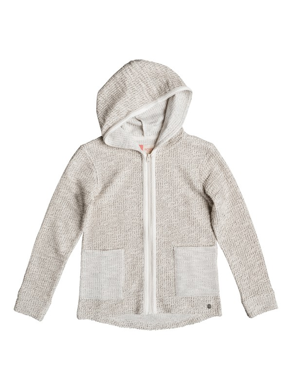 0 Cool White - Zip-Up Hoodie Beige ERGFT03223 Roxy