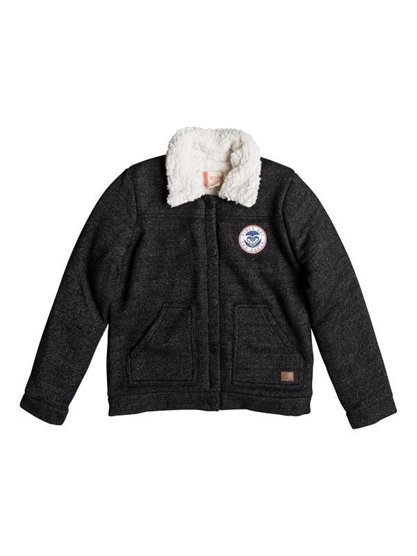 0 Royal Estate - Jersey Flight Jacket for Girls 8-16 Black ERGFT03227 Roxy
