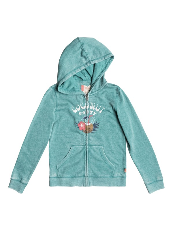 0 Girls 7-14 Be The Overflow Coconut Party Zip-Up Hoodie  ERGFT03241 Roxy