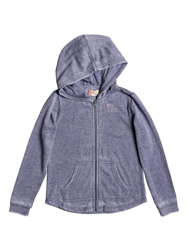 0 Teasing You Palm Tree - Sweat à capuche zippé pour Fille 8-16 ans Bleu ERGFT03258 Roxy