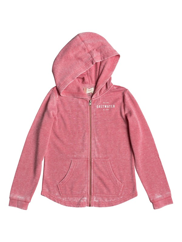 0 Girl's 7-14 Teasing You Salt Water Zip-Up Hoodie  ERGFT03259 Roxy