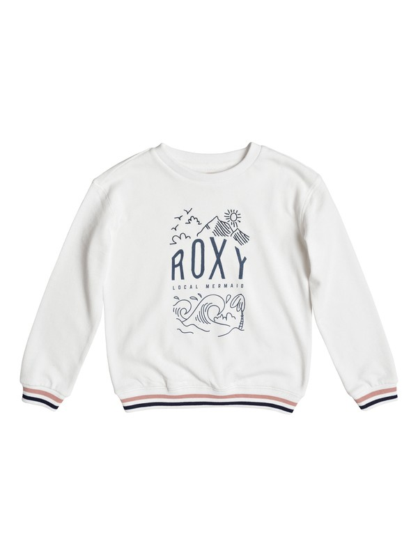 0 Свитшот Shine All Day Night Surf Белый ERGFT03262 Roxy