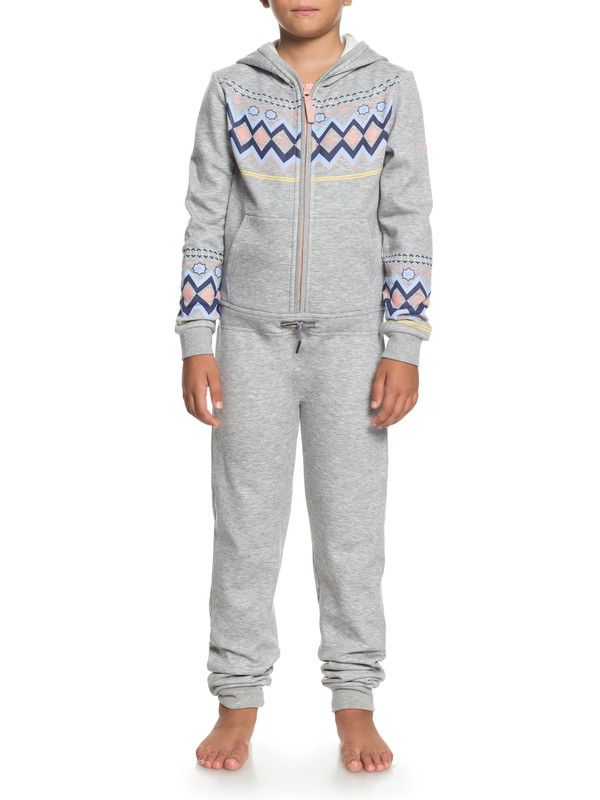 0 Girls 7-14 Cozy Up Technical Onesie Grey ERGFT03266 Roxy