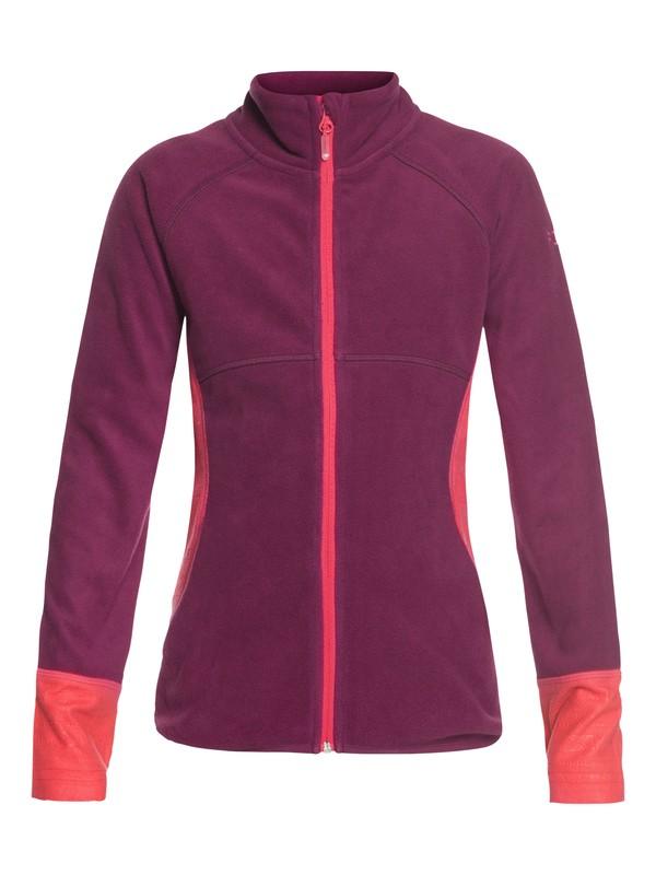 0 Girl's 7-14 Harmony Technical Zip-Up Fleece Red ERGFT03268 Roxy