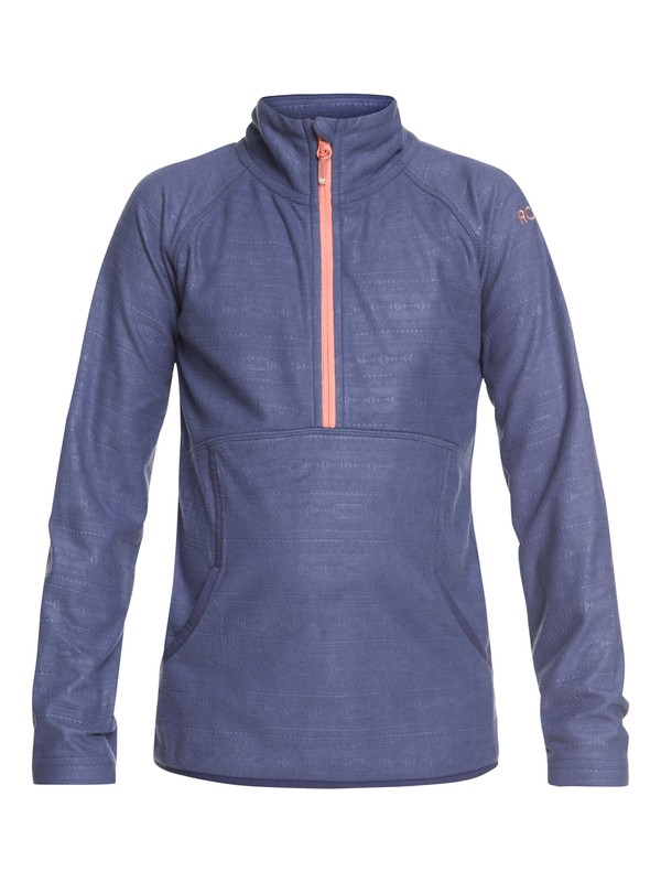 0 Girl's 7-14 Cascade Technical Half-Zip Fleece Blue ERGFT03269 Roxy