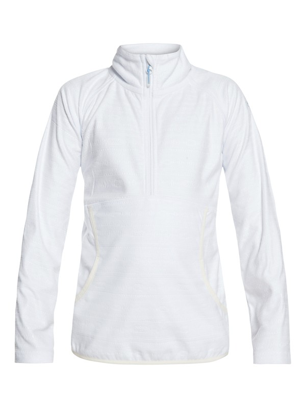 0 Cascade - Polaire demi-zip technique pour Fille 8-16 ans Blanc ERGFT03269 Roxy