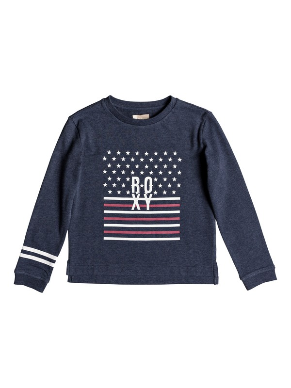 0 Girl's 7-14 Thousand More Sweatshirt Blue ERGFT03275 Roxy