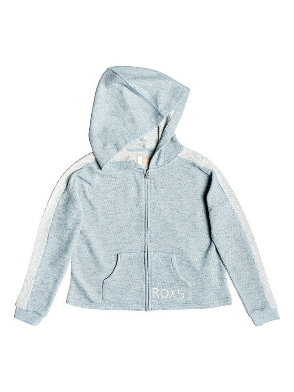 0 Girls 7-14 Listen Closely  Zip Hoodie Blue ERGFT03278 Roxy