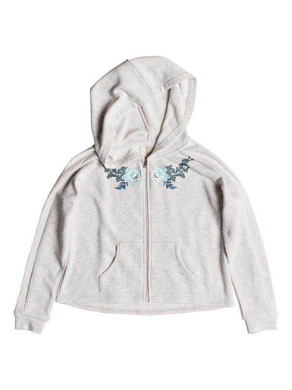 0 Girls 7-14 Listen Closely Zip Hoodie White ERGFT03279 Roxy