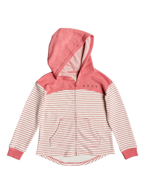 0 Girls 7-14 Happiest Fall Zip-Up Hoodie Pink ERGFT03293 Roxy