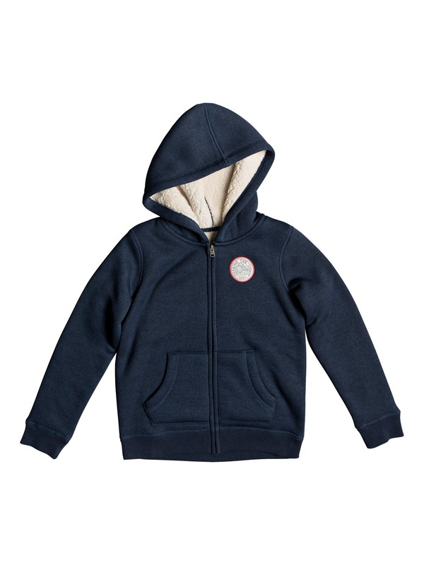 0 Girls 7-14 Feel Her Breath Search For The S Zip-Up Hoodie Blue ERGFT03302 Roxy