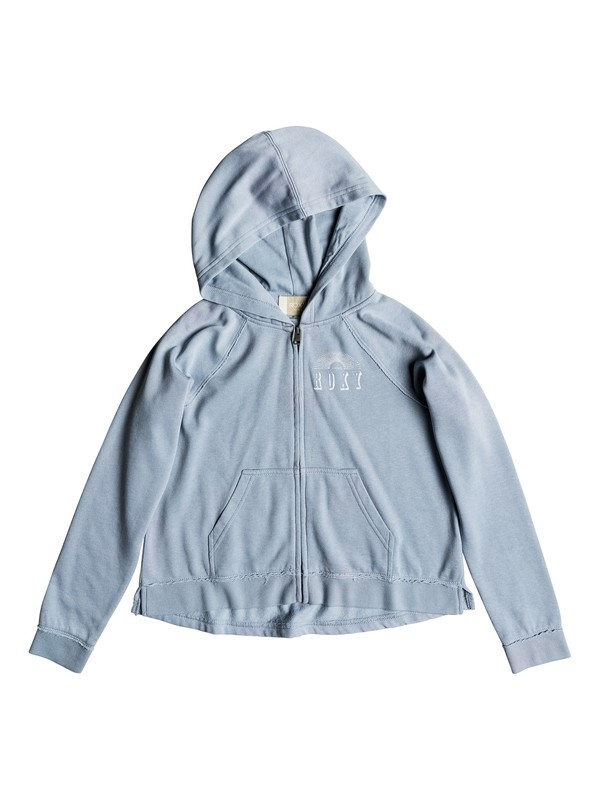 0 Girl's 7-14  Pretty Smile Circle Spirit Zip-Up Hoodie Blue ERGFT03304 Roxy