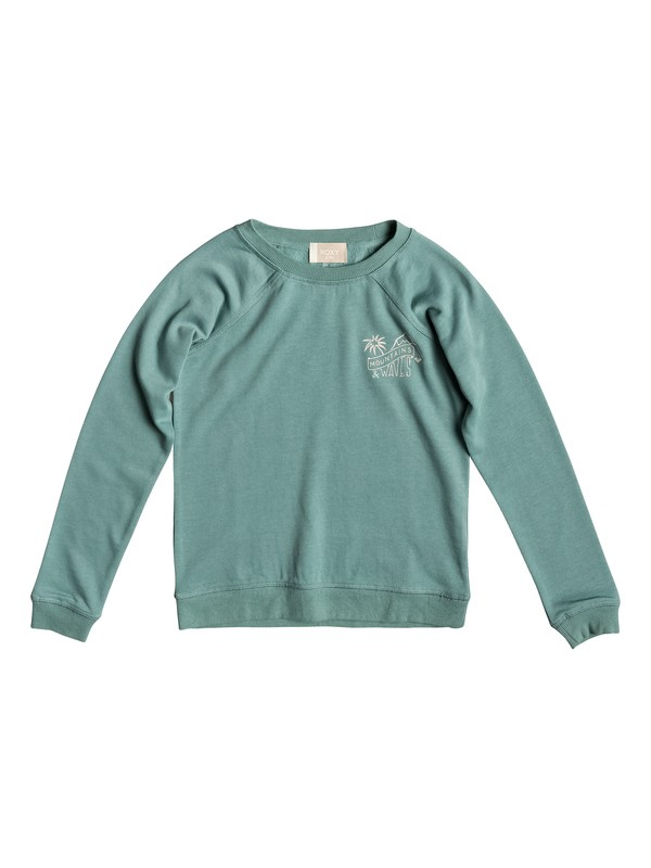 0 Girls 7-14 Fingers Crossed Little Story Sweatshirt Blue ERGFT03305 Roxy