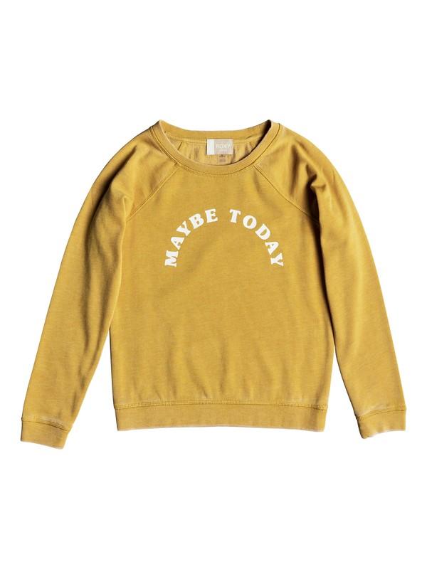 0 Girls 7-14 Fingers Crossed Maybe Sweatshirt Yellow ERGFT03306 Roxy
