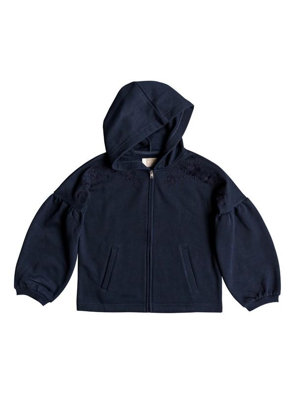 0 Girl's 7-14 Stop And Go Puff Sleeve Zip-Up Hoodie  ERGFT03324 Roxy