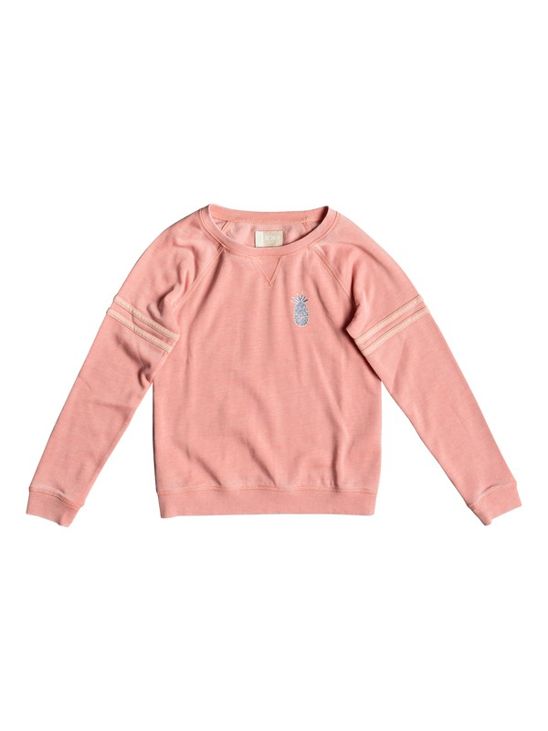 0 Girl's 7-14 Let It Go Small Fruit Sweatshirt Pink ERGFT03343 Roxy