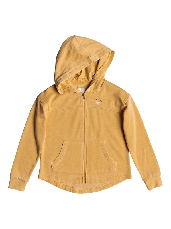 0 Girl's 7-14 Sky Ladder Surf And Chill Zip-Up Hoodie Yellow ERGFT03347 Roxy