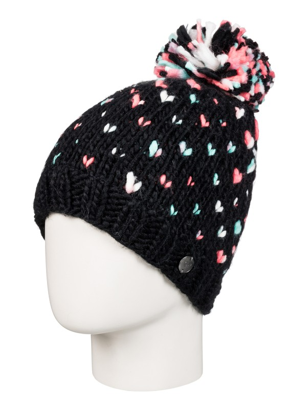 0 Girls 7-14 Dena Beanie Black ERGHA03032 Roxy