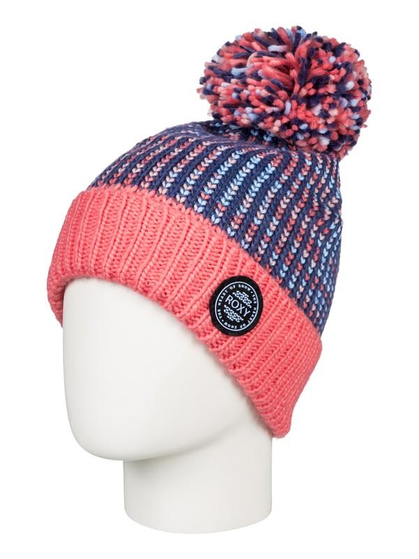 0 Snowflurry - Pom-Pom Beanie for Girls 8-16 Blue ERGHA03105 Roxy