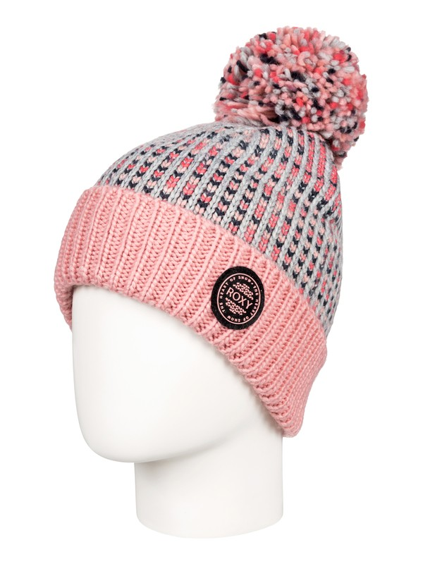 0 Girl's 7-14 Snowflurry Pom-Pom Beanie Grey ERGHA03105 Roxy