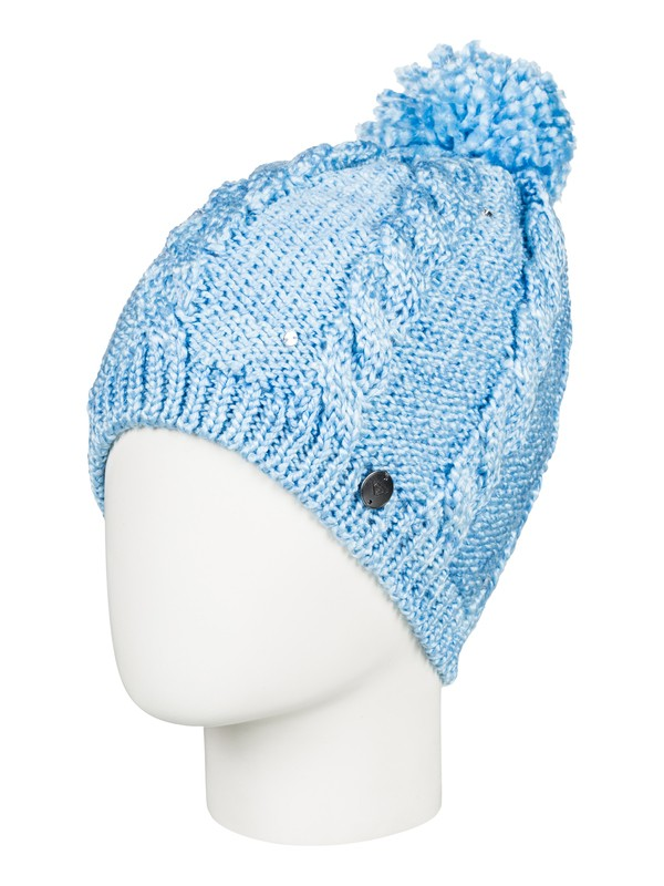 0 Girl's 7-14 Shooting Star Pom-Pom Beanie Blue ERGHA03108 Roxy