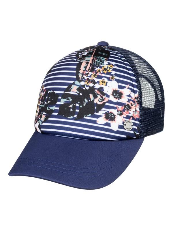 0 Girl's 7-14 Reggae Town Trucker Hat Blue ERGHA03116 Roxy