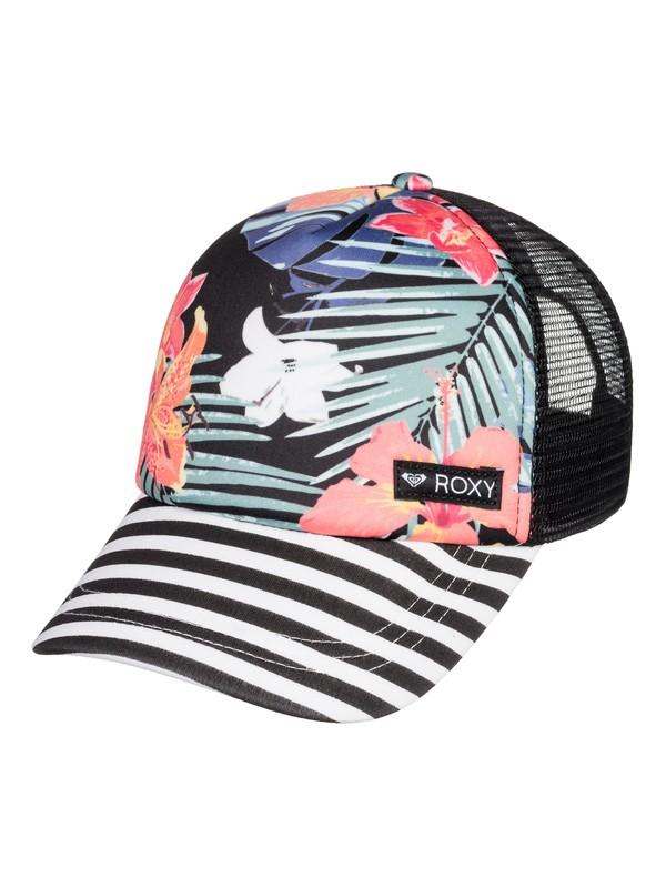 0 Girl's 7-14 Just Ok Trucker Hat Black ERGHA03120 Roxy