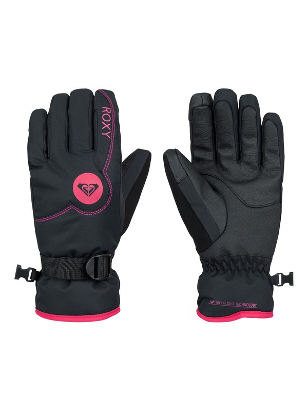 0 Girl's 7-14 Jetty Solid Snowboard Gloves  ERGHN03003 Roxy