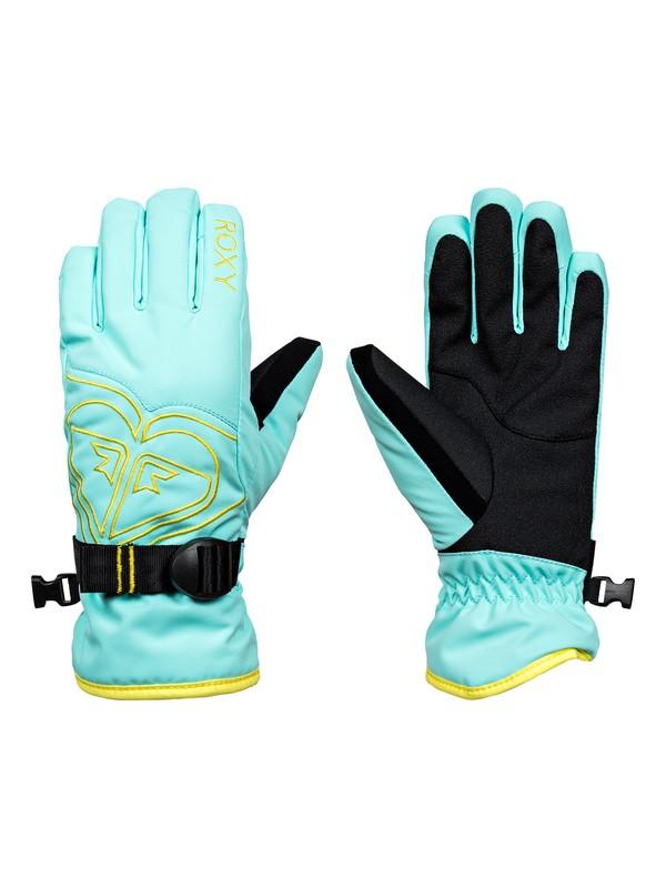 0 Poppy - Snowboard/Ski Gloves for Girls 8-16 Blue ERGHN03010 Roxy