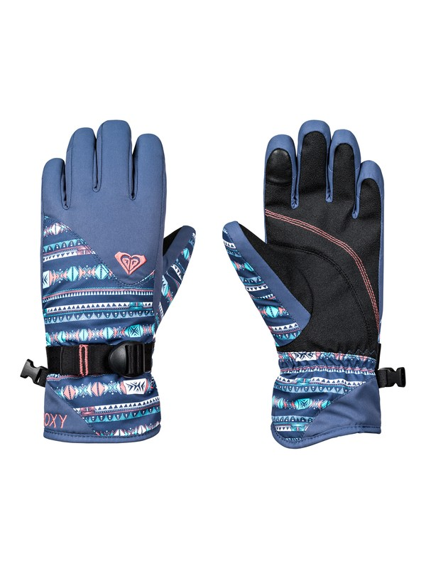 0 Girl's 7-14 ROXY Jetty Snowboard/Ski Gloves Blue ERGHN03014 Roxy
