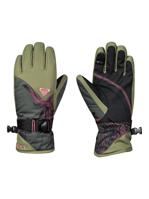 0 Girl's 7-14 ROXY Jetty Snowboard/Ski Gloves Black ERGHN03014 Roxy