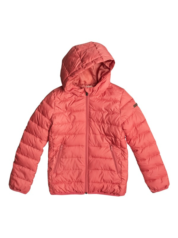 0 Question Reason - Puffer Jacket for Girls 8-16 Pink ERGJK03027 Roxy